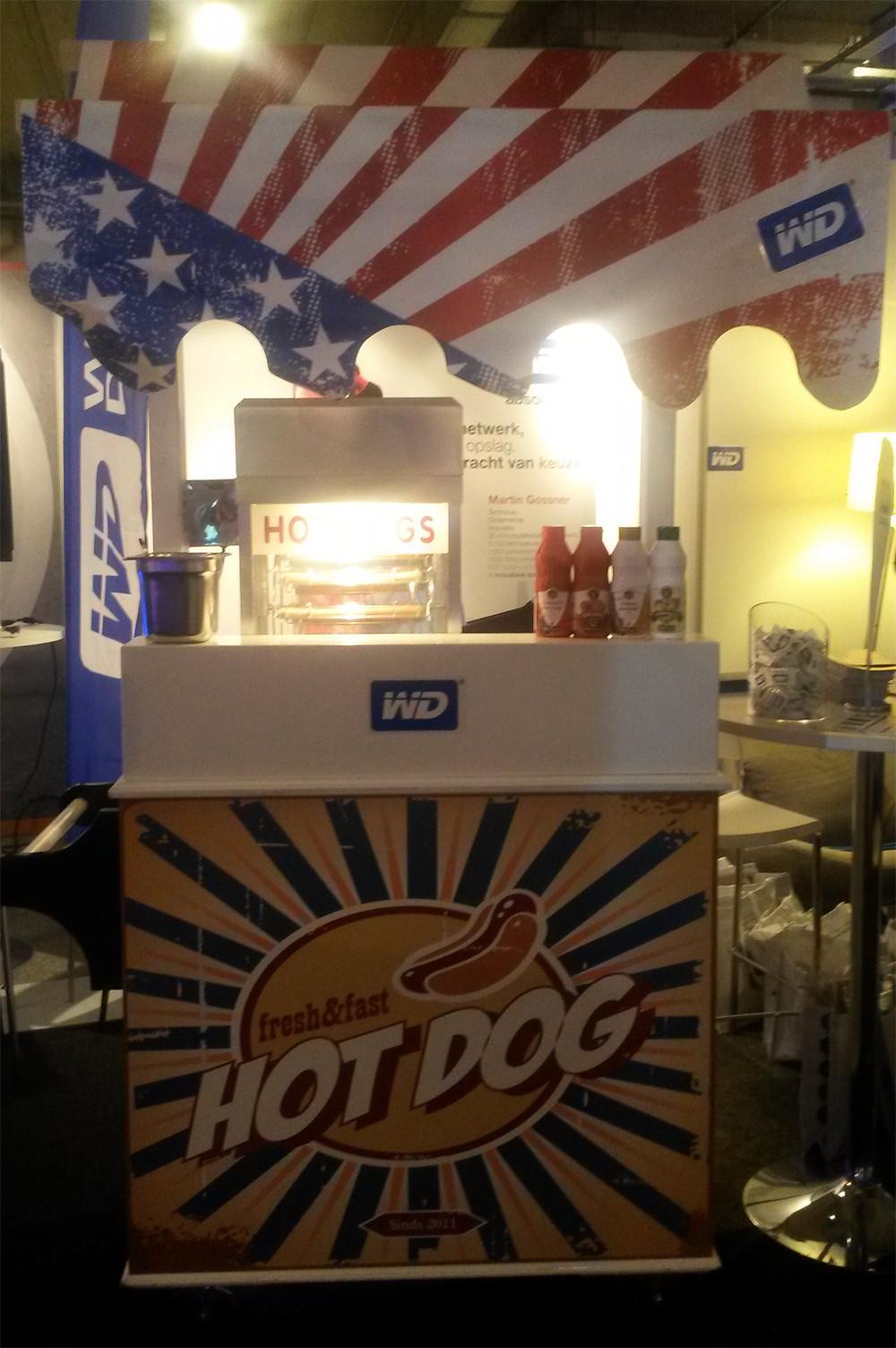 Verse broodjes hotdogs voor Western Digital